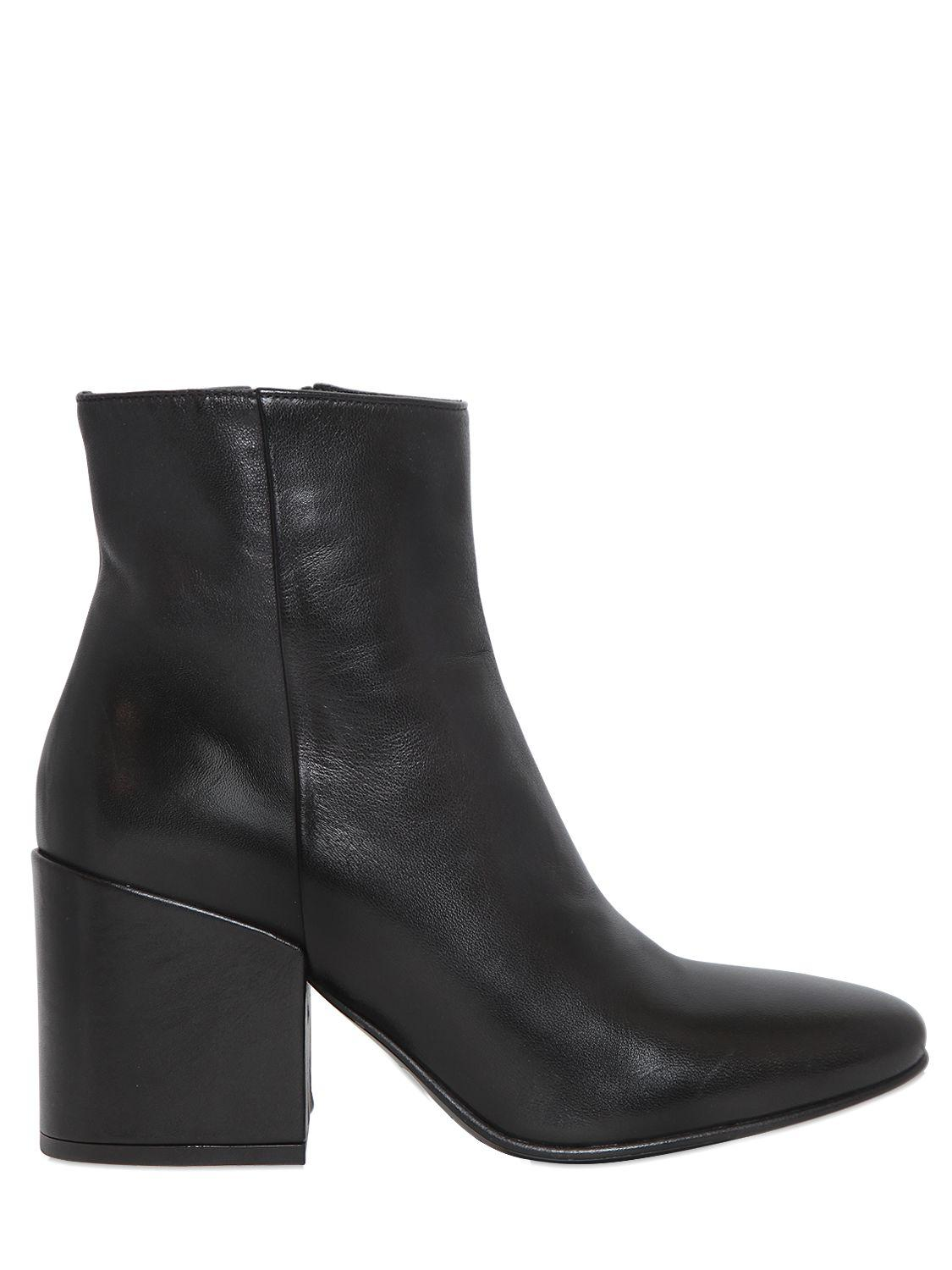 Strategia 70MM SMOOTH LEATHER ANKLE BOOTS JwXNMx7