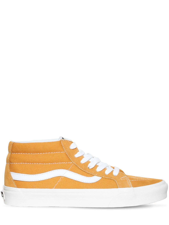 09bdaa5d1b7d Vans Sk8 Hi Mid Reissue Sneakers in Yellow for Men - Lyst
