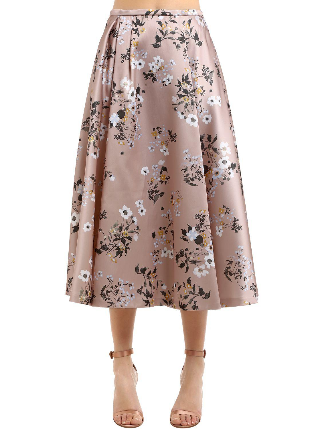 Floral Pleated Midi Skirt Rochas Free Shipping Visit New Outlet Real Hot Sale Sneakernews Cheap Price Outlet Wholesale Price CH1Q1Iua7