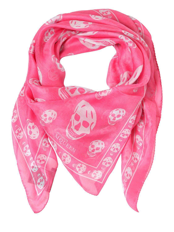 skull print scarf - Pink & Purple Alexander McQueen 5M61UGrTX