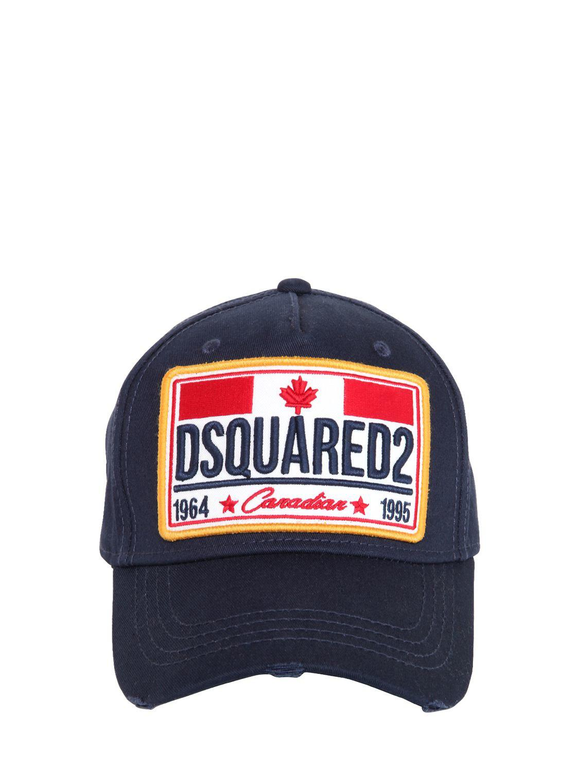fdcad83c59800 Lyst - DSquared² Canadian Flag Patch Cotton Baseball Hat in Blue for Men