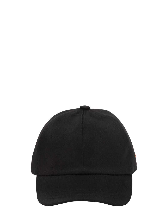 Lyst - Z Zegna Cashmere Baseball Hat in Black for Men f99d02cdf88