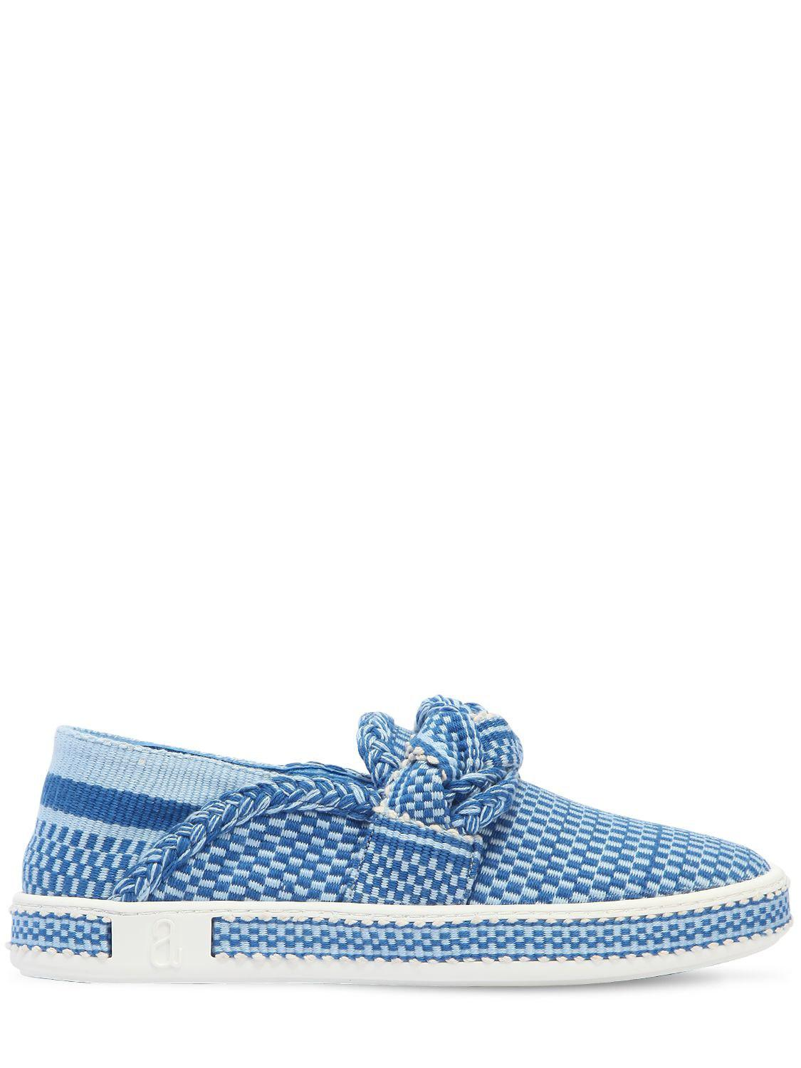 Blue Bird Shoesleather and cotton Eletric Love denim loafers Bon Service sortie En Ligne Finishline obtenir FCbqXDpdxK