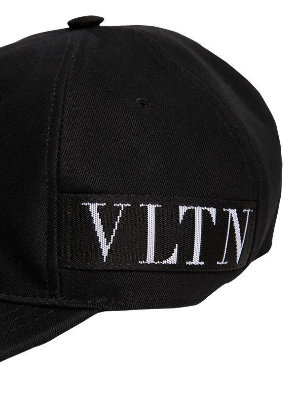 fe7e5aab2c9 Valentino - Black Vltn Baseball Hat for Men - Lyst. View fullscreen