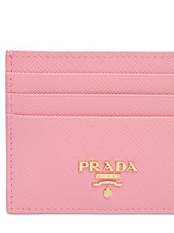 ae6303ec best price prada card holder pink 1a03c e9530