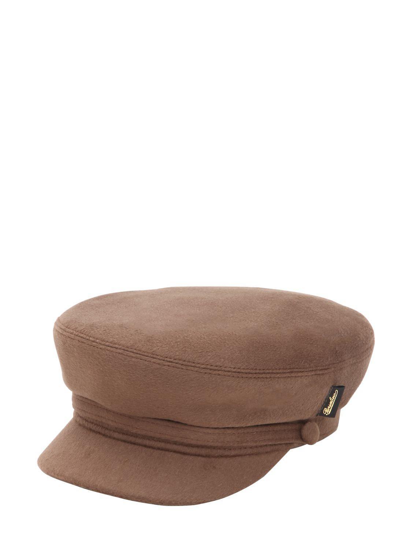 Lyst - Borsalino Marine Captain Wool Hat in Brown de15e2822009