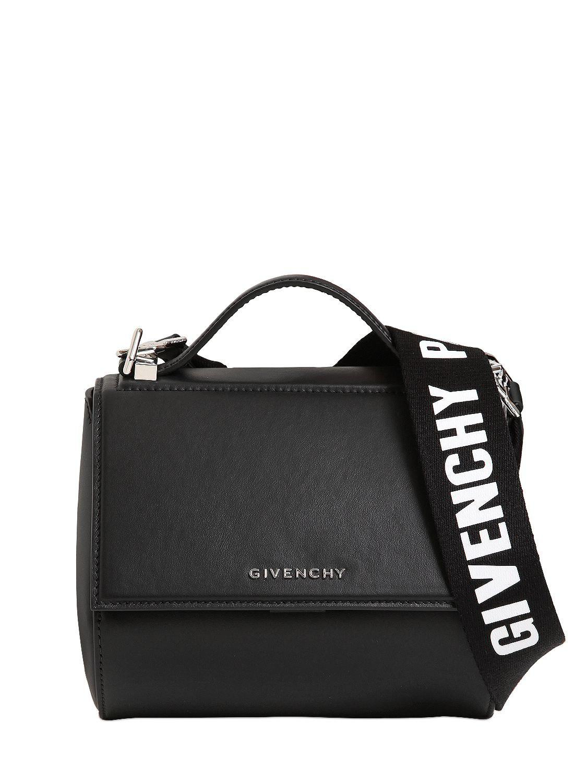 86e8295a18e Lyst - Mini sac en cuir avec lanière logo