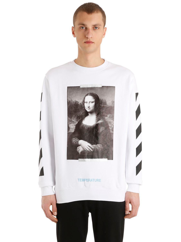 Off White C O Virgil Abloh Monalisa Printed Cotton