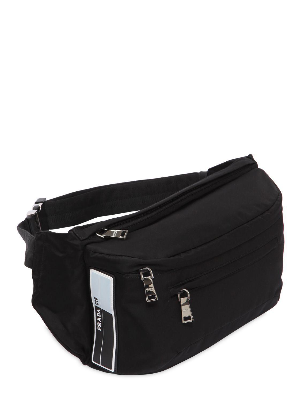 388f91df2265c Prada Marsupio Maxi In Nylon in Black for Men - Lyst