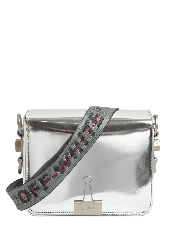 cd2bc089b6f070 Off-White c/o Virgil Abloh Binder Clip Mirror Leather Shoulder Bag ...