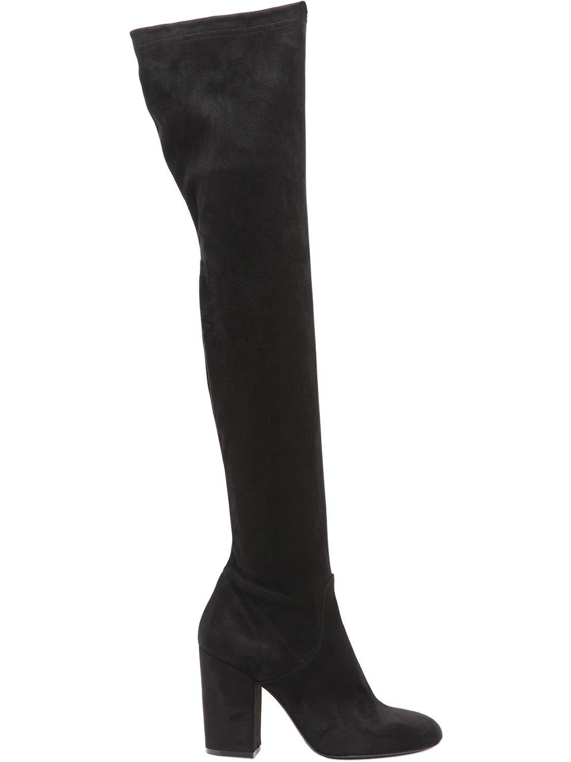 Strategia 70MM STRETCH FAUX SUEDE BOOTS