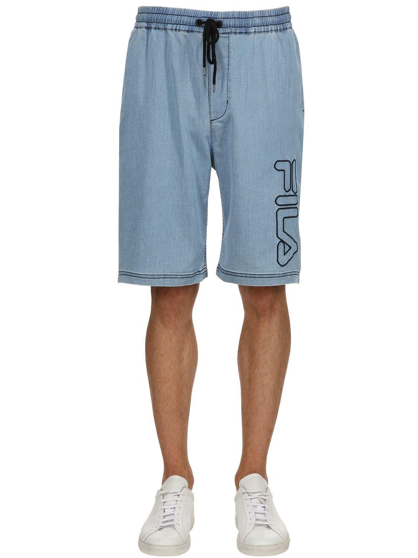 259da5c2d8202 Fila Charles Cotton Blend Shorts in Blue for Men - Lyst
