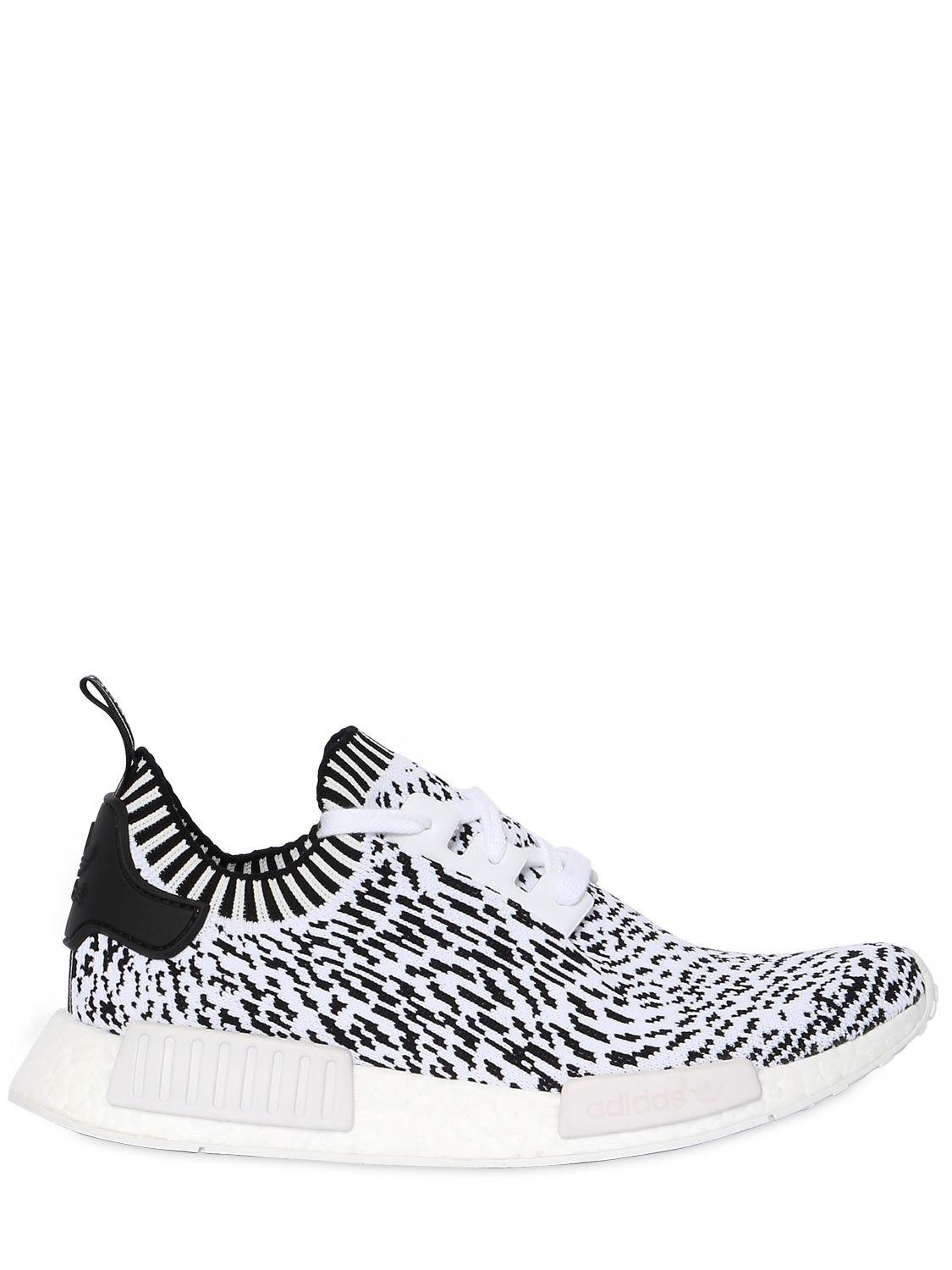 702a9eb4c21fa Lyst - adidas Originals Nmd R1 Primeknit Sneakers in White for Men ...