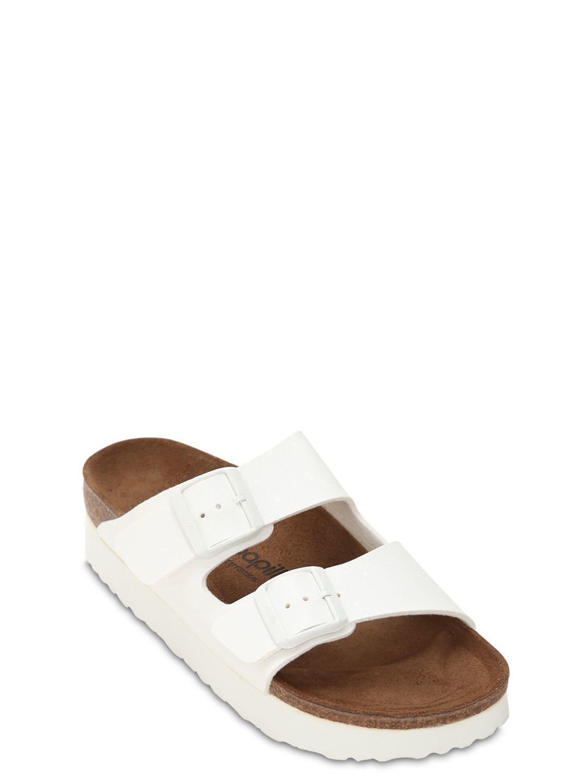d2433ca5909 Lyst - Birkenstock Papillio Arizona Platform Sandals in White - Save 10%
