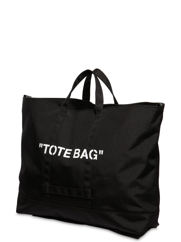 de274545a549 Lyst - Off-White c o Virgil Abloh Quote Tote Bag in Black for Men