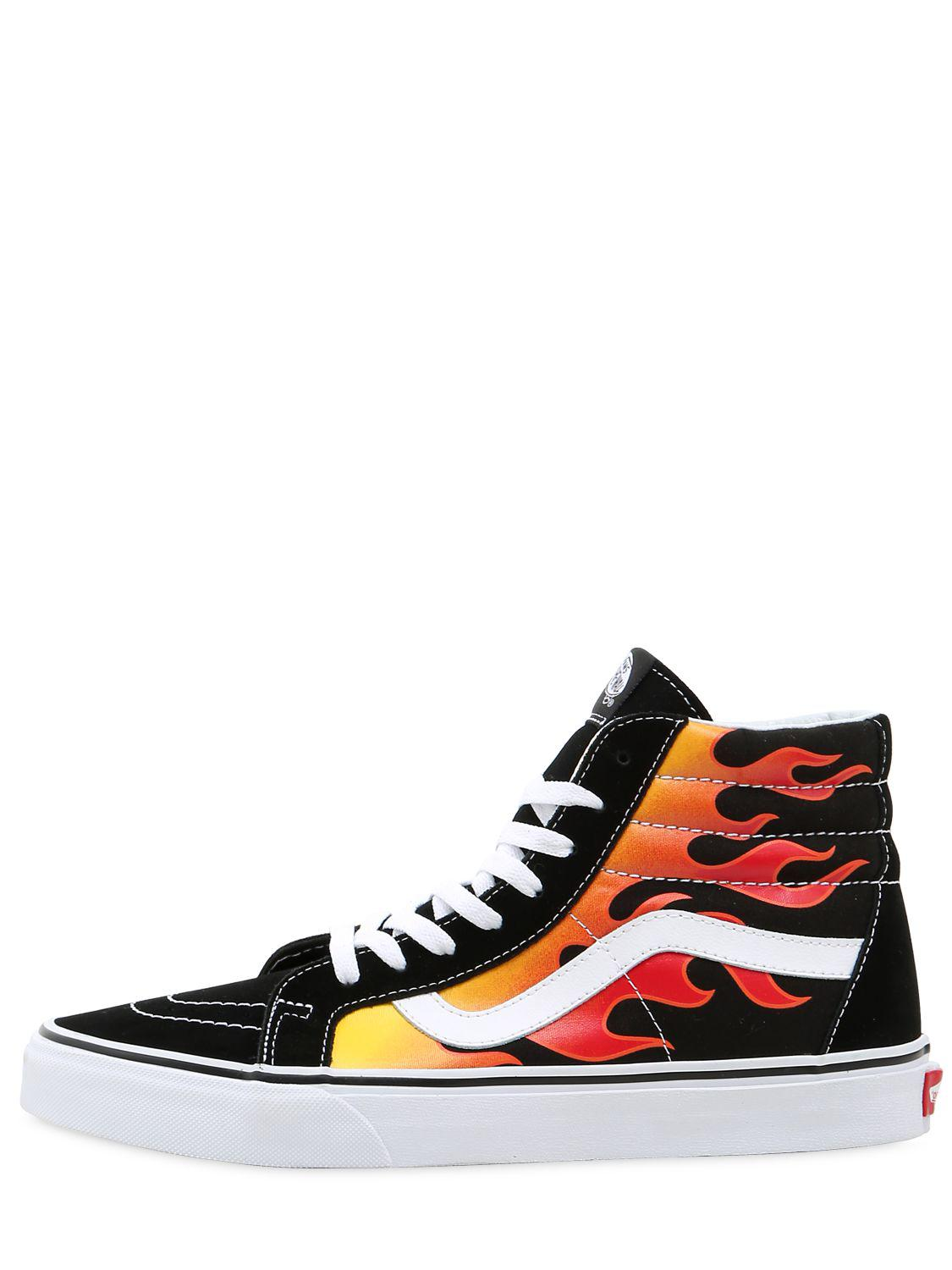 fa30e7c744 Vans flame hi high top sneakers in black for men lyst jpg 1125x1500 Fire  high top