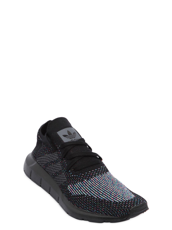 brand new 29b5c cb45f Adidas Originals - Black Swift Run Primeknit Sneakers for Men - Lyst. View  fullscreen