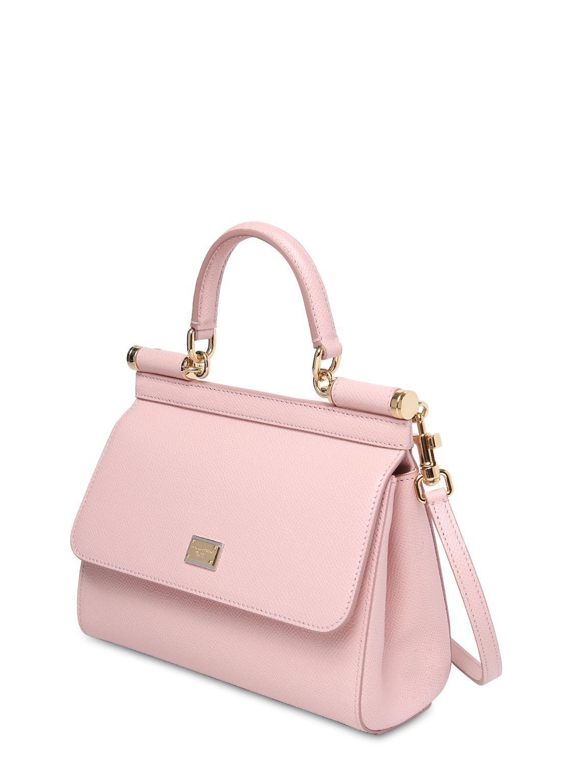 Dolce   Gabbana - Pink Small Sicily Dauphine Leather Bag - Lyst. View  fullscreen 1e5797c7f8