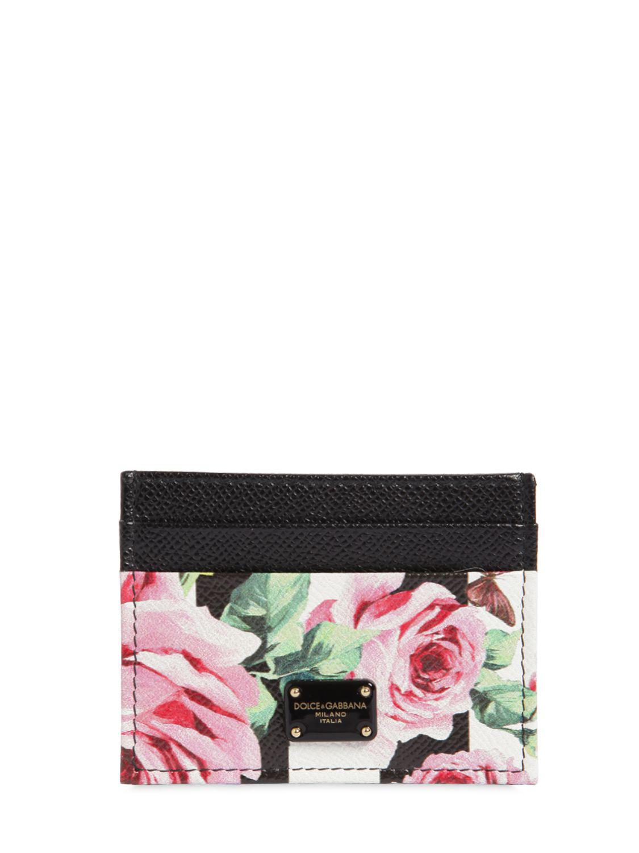 Dolce & Gabbana Porte-cartes en cuir imprimé DUVEs89a