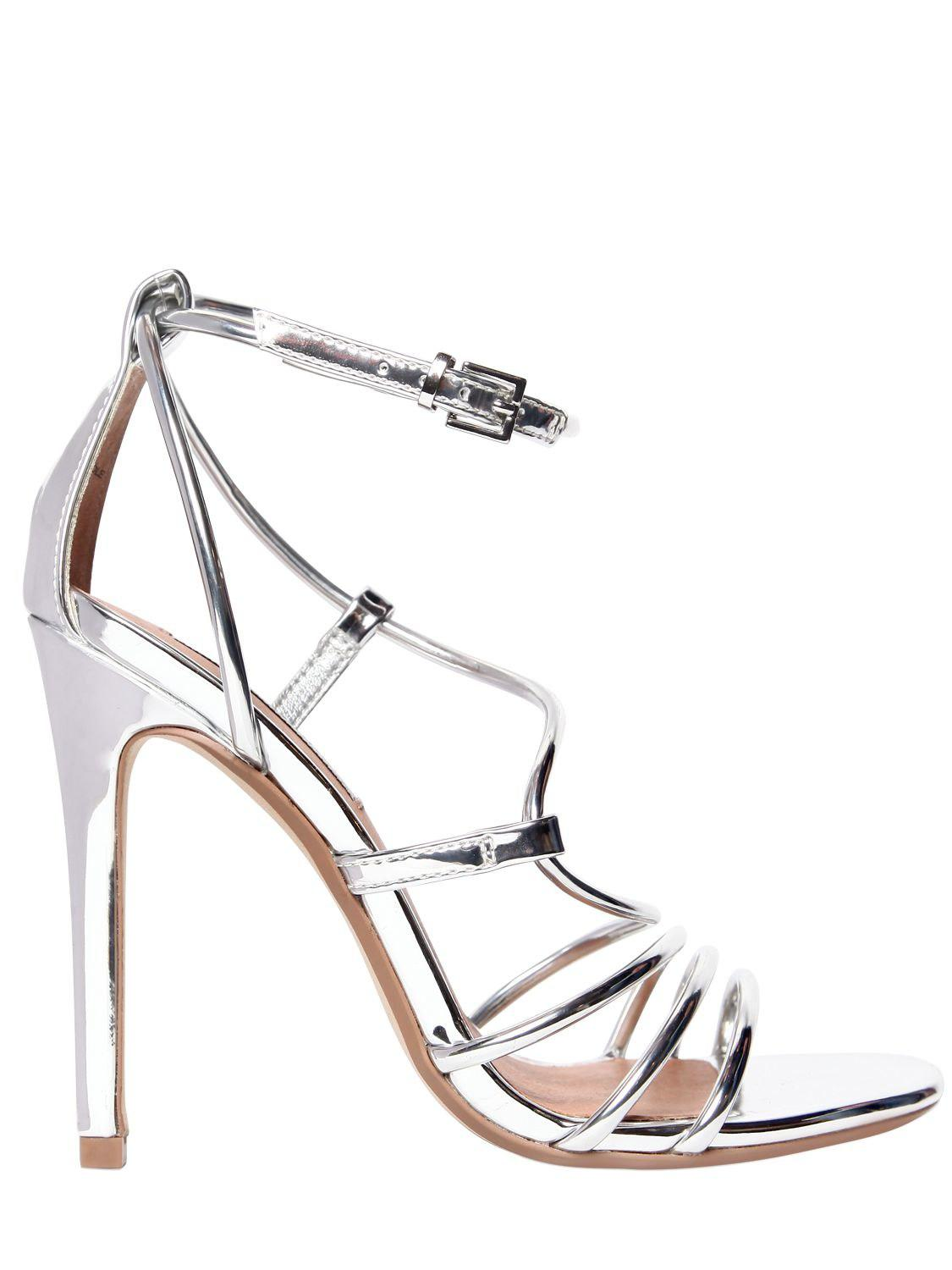 Steve Madden 100MM SMITH METALLIC FAUX LEATHER SANDAL gWZse
