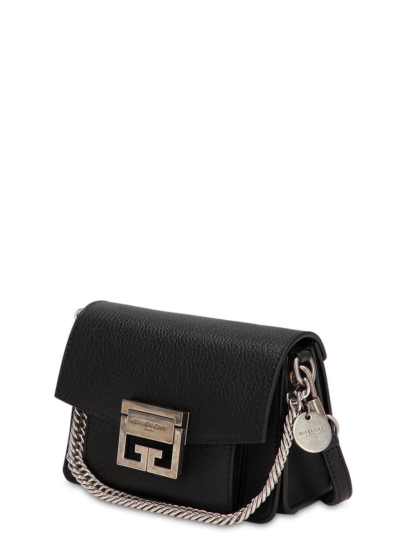 d4f9915c707 Givenchy - Black Mini Gv3 Grained Leather Shoulder Bag - Lyst. View  fullscreen