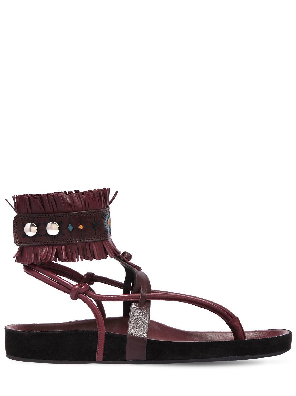 Isabel Marant Eliby fringed leather sandals S0k3I6