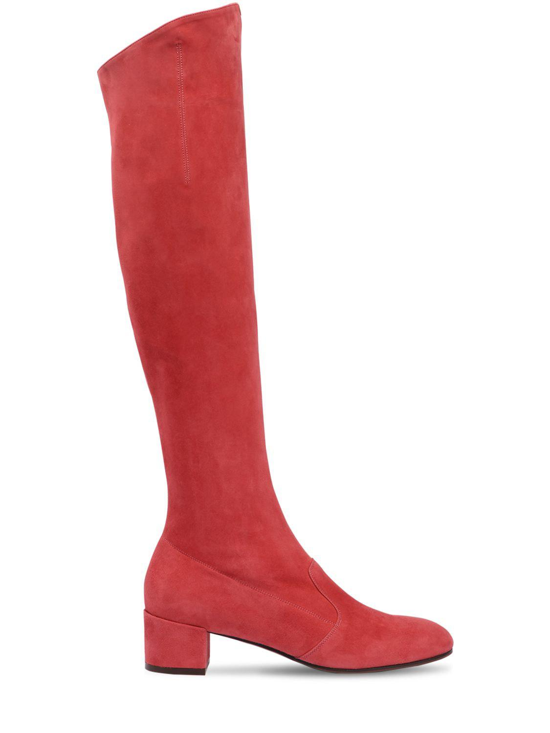 e1cb7b524b96 Lyst - L Autre Chose 30mm Barbarella Suede Over The Knee Boot in Red