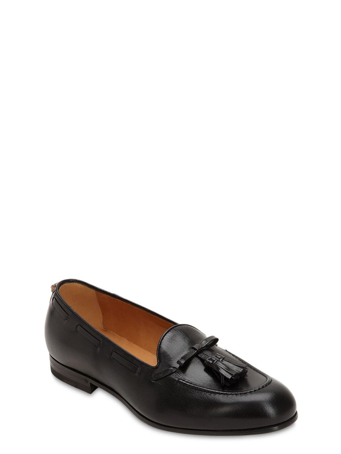796783d4f65 Gucci Loomis Tassel Leather Loafers in Black for Men - Lyst
