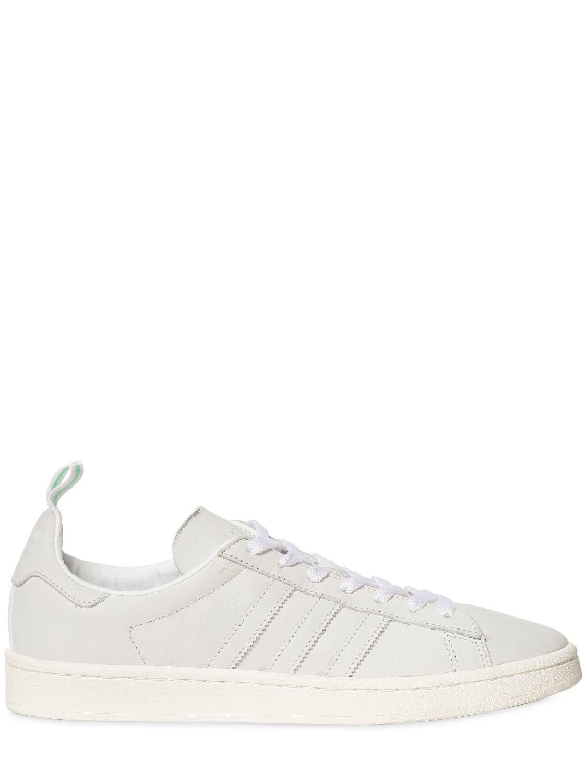 lyst adidas originali campus nabuk scarpe in bianco per gli uomini.