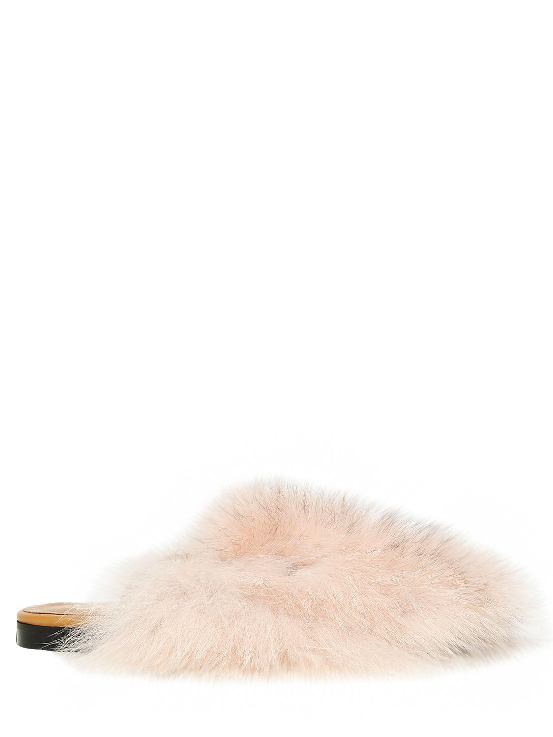 Discount Sale Mr Mrs Italy 10mm Fox Fur Mules Pink Women Shoes