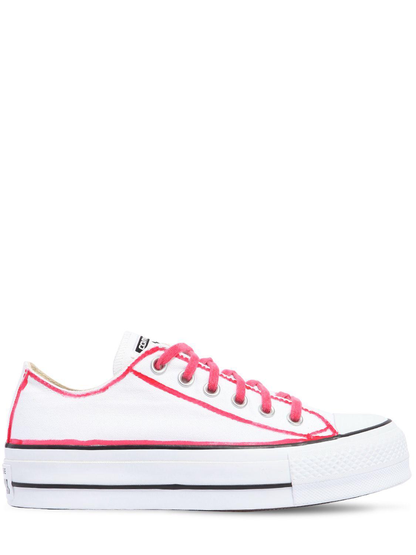 converse lift canvas platform sneakers