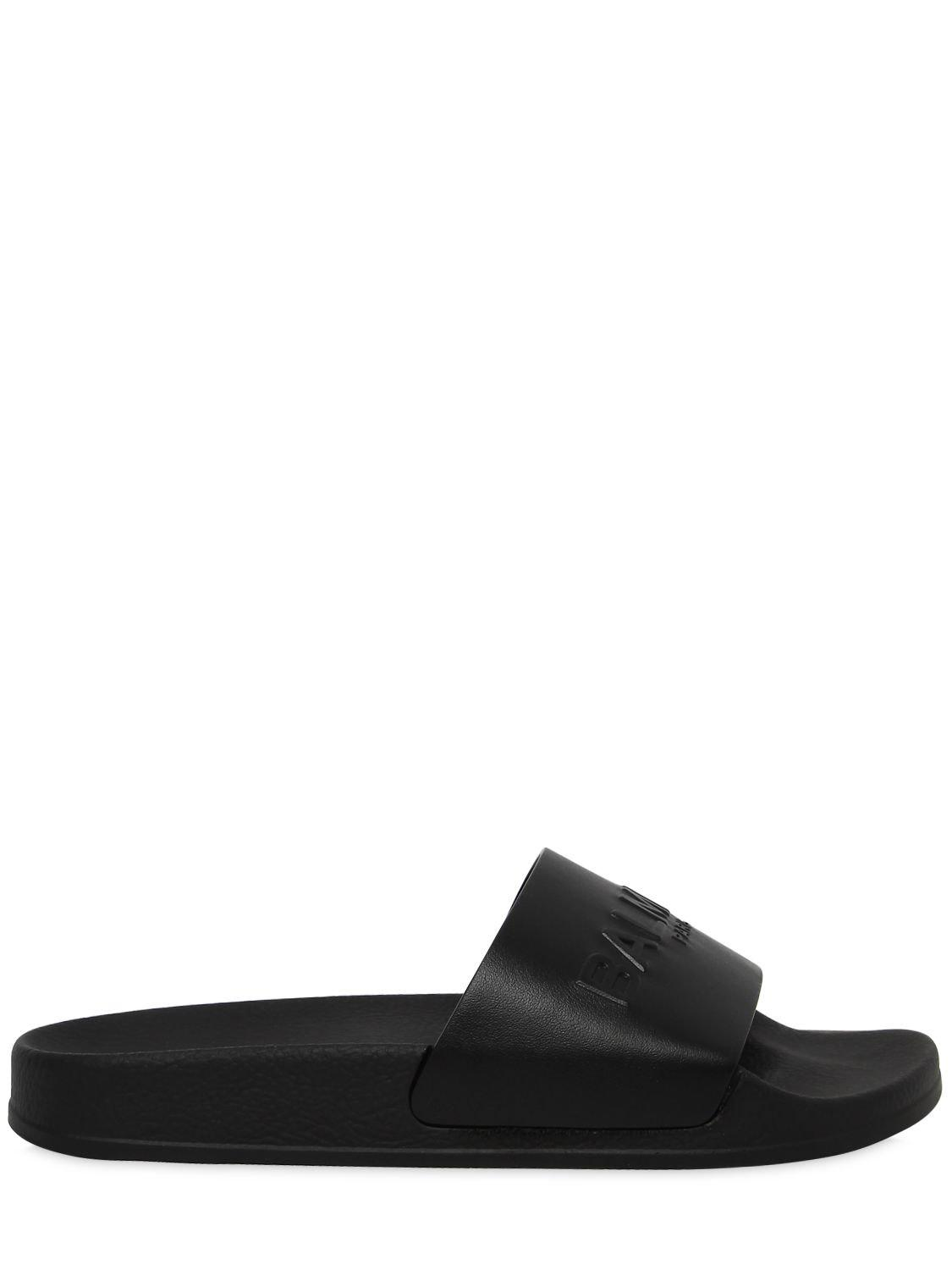 Balmain Shoes, Leather Calypso Women's Slide Sandals