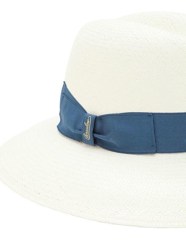d46be368e9c2 Lyst - Borsalino Claudette Panama Fine Straw Hat in Blue