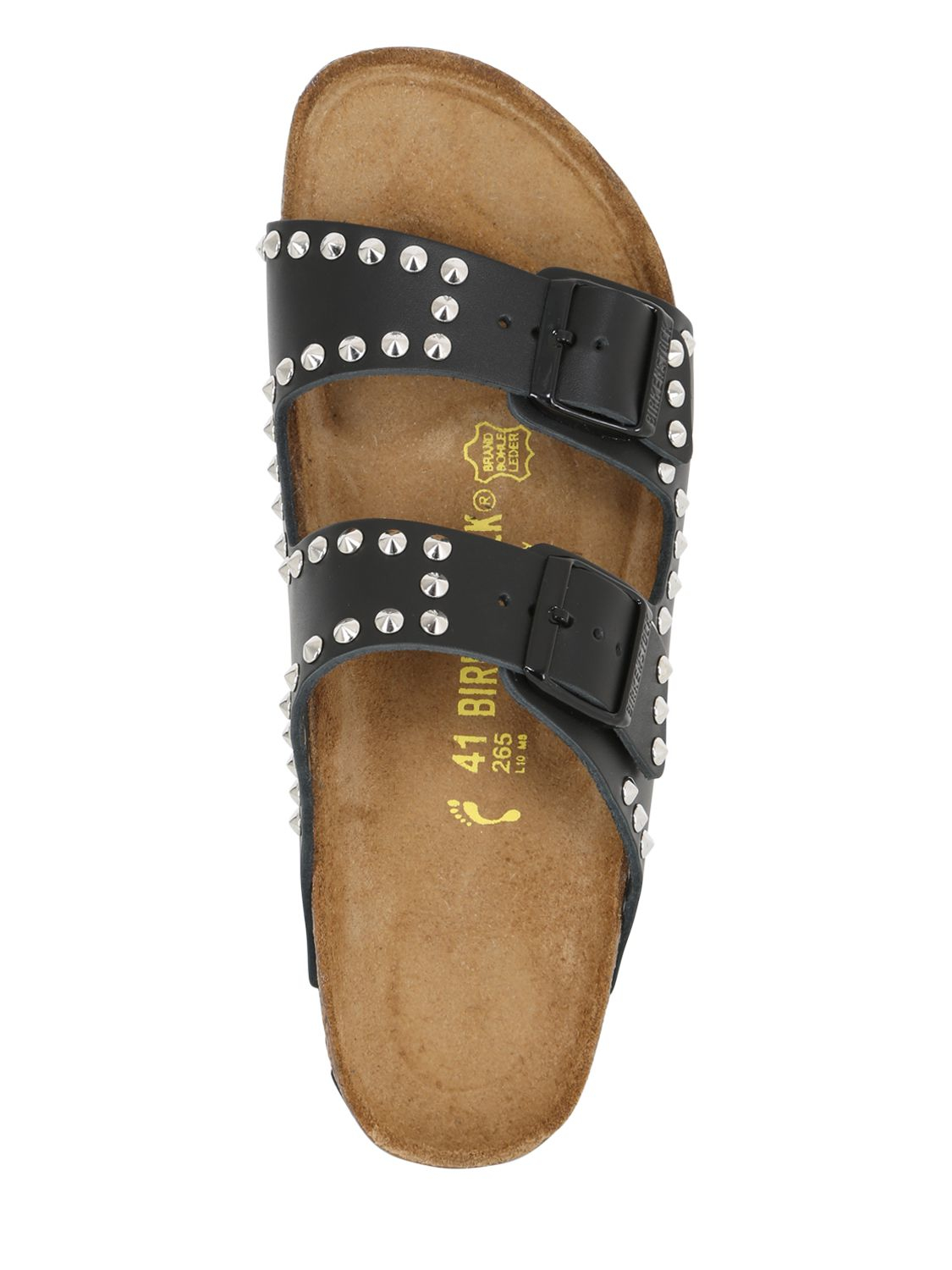 Lyst Birkenstock Arizona Studded Leather Slide Sandals