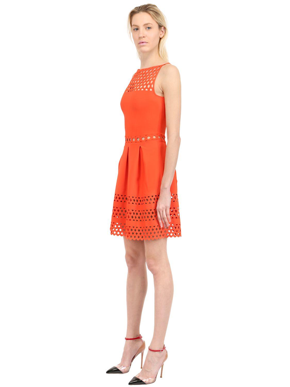 Lyst Vicedomini Viscose Blend Knit Dress In Orange