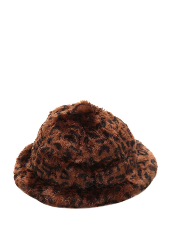 Kangol Leopard Print Faux Fur Bucket Hat in Brown for Men - Lyst 4c8cdcd5f0cc