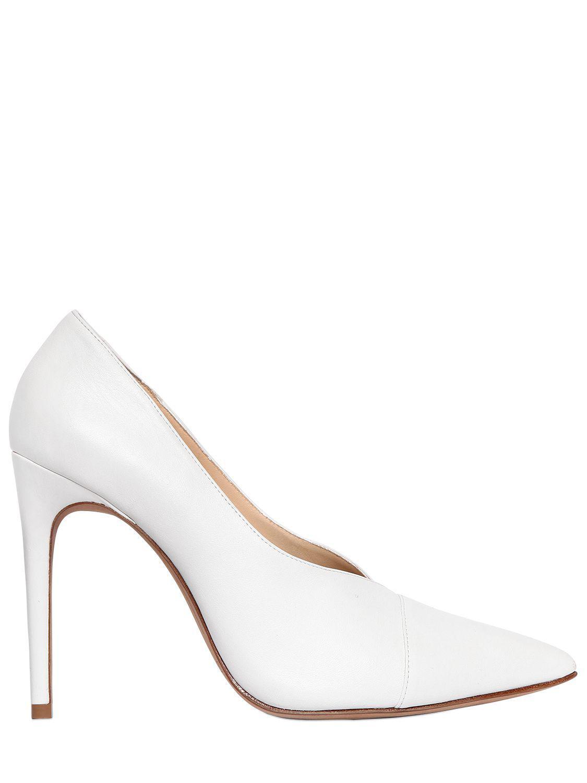 e3e520831402 Alexandre Birman. Women s White 100mm Clarice Leather Court Shoes