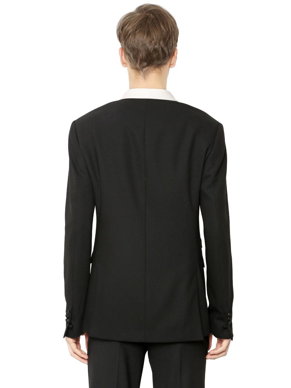 Lyst neil barrett wool crepe tuxedo jacket in black for men for Neil barrett tuxedo shirt
