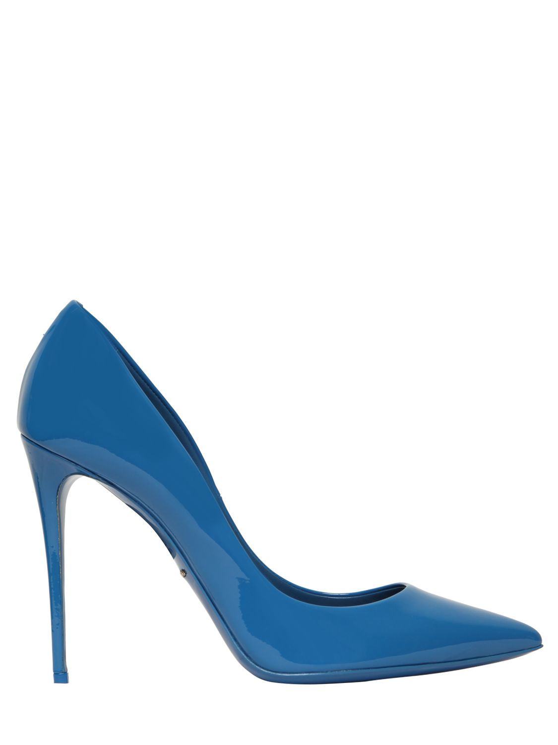 4b48a0ea5db4 Lyst - Dolce   Gabbana 105mm Kate Patent Leather Pumps in Blue
