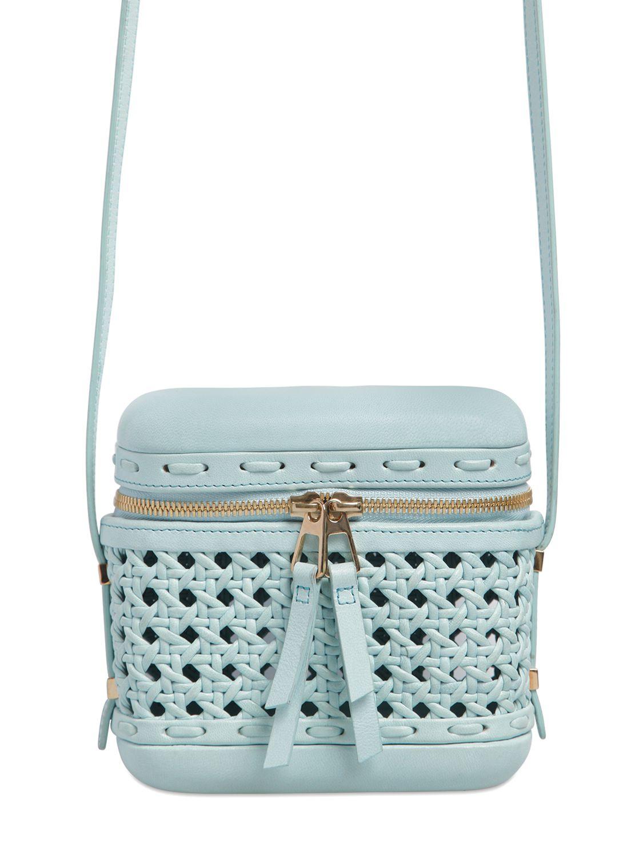 dc9f13f70510 Benedetta Bruzziches Little Picnic Woven Leather Shoulder Bag in ...
