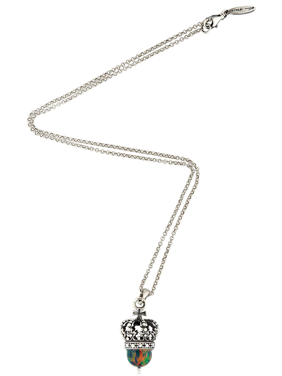 cantini mc firenze crown pendant necklace in silver lyst