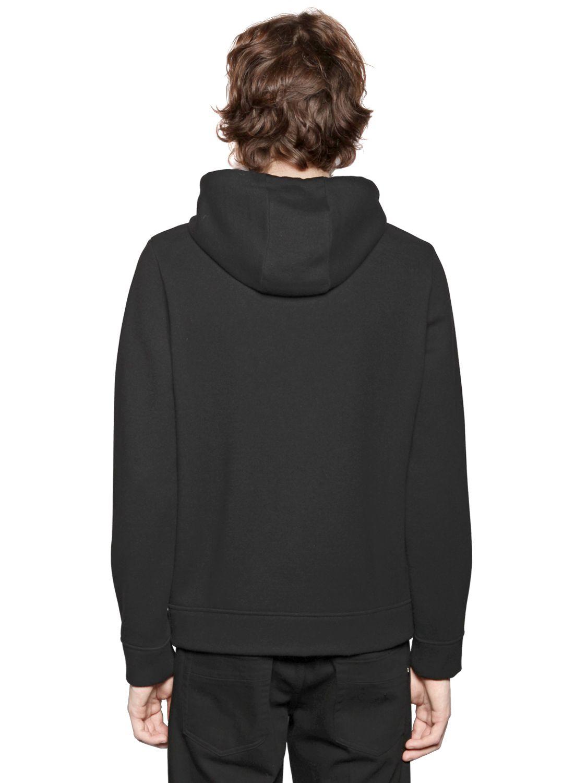 Fendi Monster Eyes Hooded Zip Up Sweatshirt In Black For