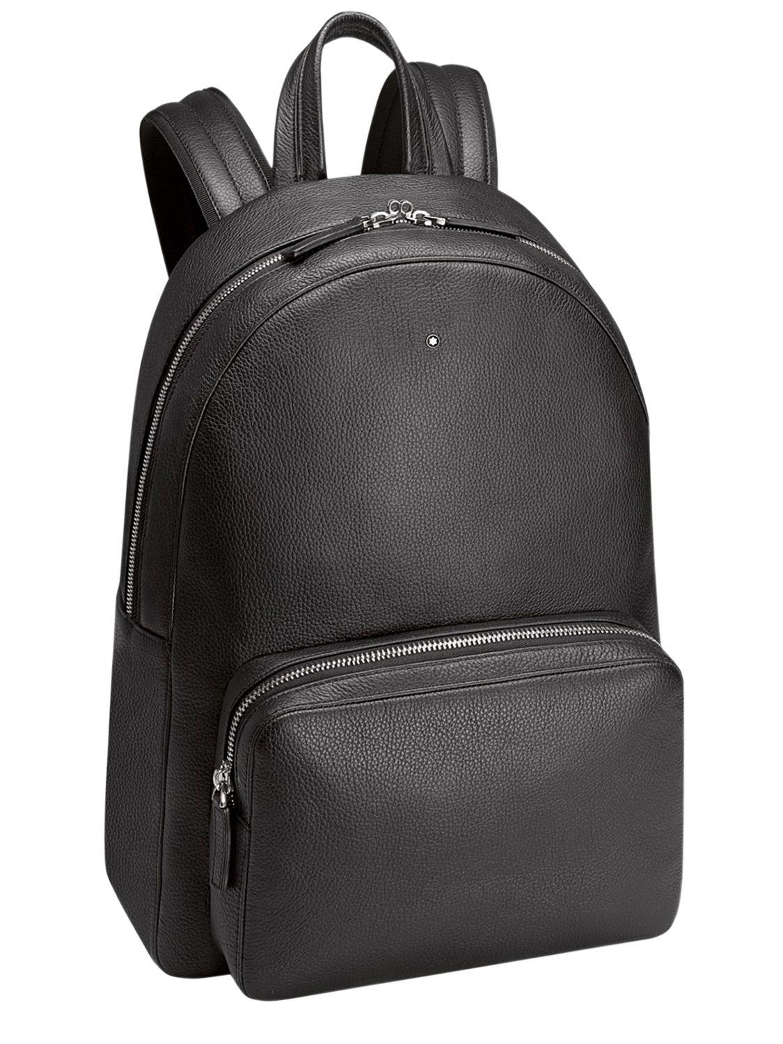 lyst montblanc meisterst ck softgrain leather backpack. Black Bedroom Furniture Sets. Home Design Ideas