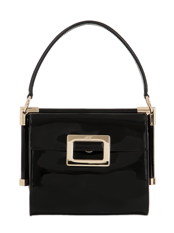 Miss Viv Carre Mini patent leather shoulder bag Roger Vivier NZl79