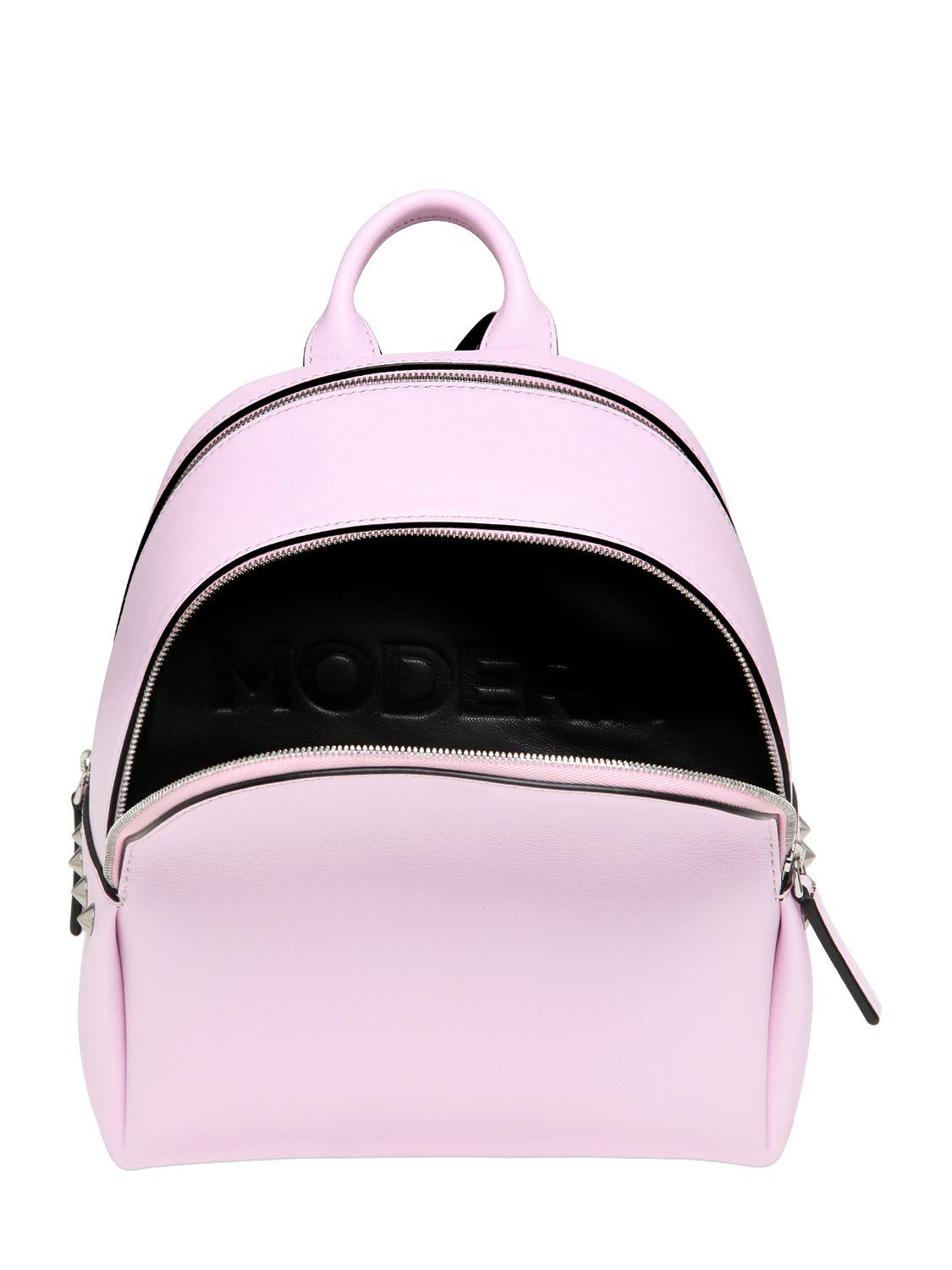 Lyst Mcm Mini Leather Backpack In Pink