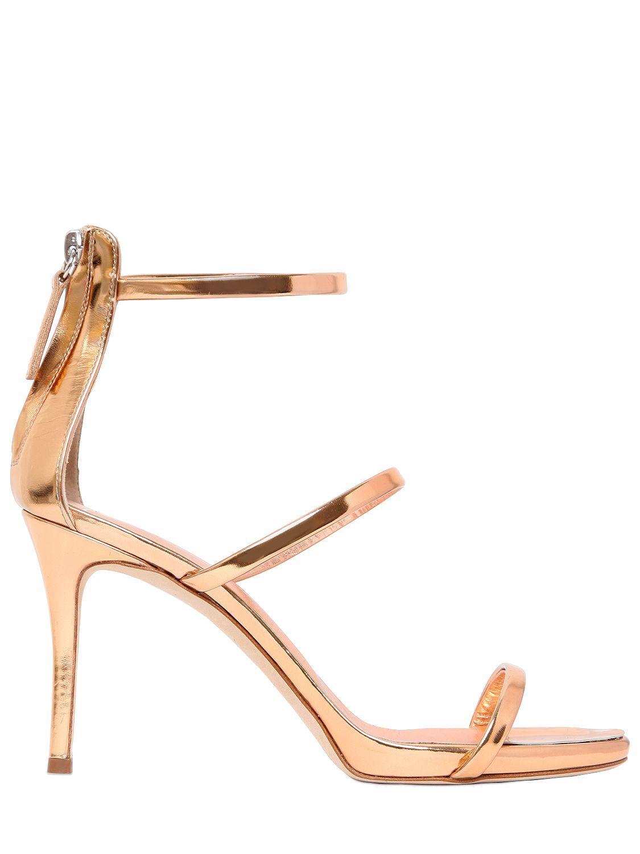 666a21da01c94 Giuseppe Zanotti Harmony Metallic Leather Sandals in Metallic - Lyst