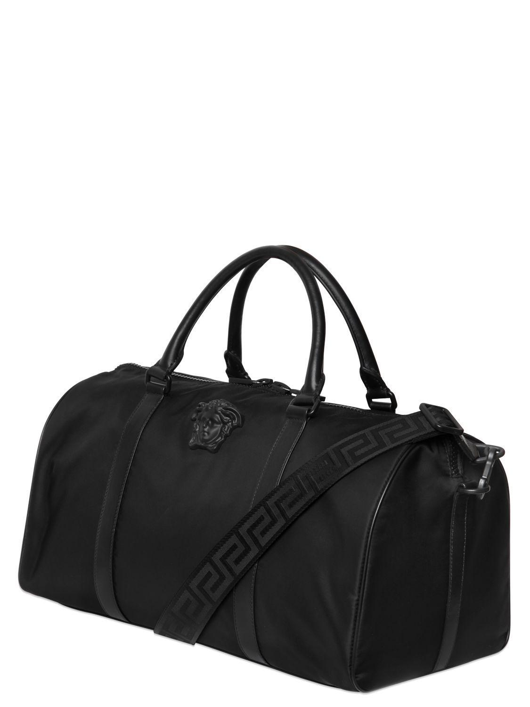 dac80c69fe Lyst - Versace Medusa Nylon Duffle Bag in Black for Men
