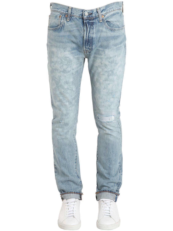 levi 39 s 501 skinny stretch denim jeans in blue for men lyst. Black Bedroom Furniture Sets. Home Design Ideas