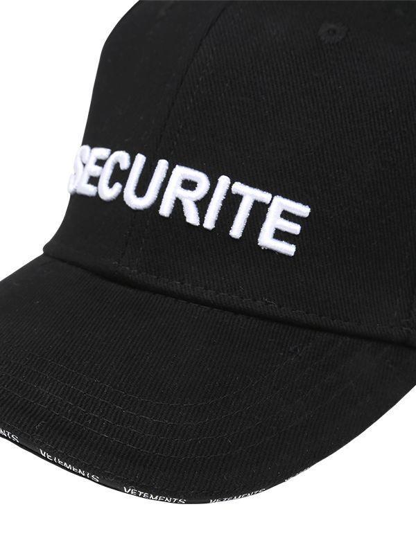 Vetements Securite Cotton Baseball Cap In Black For Men Lyst