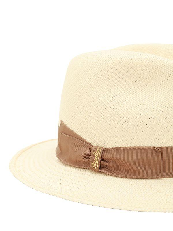 Borsalino - Natural Quito Medium Brim Straw Panama Hat - Lyst. View  fullscreen 3ca3f1cfc9be